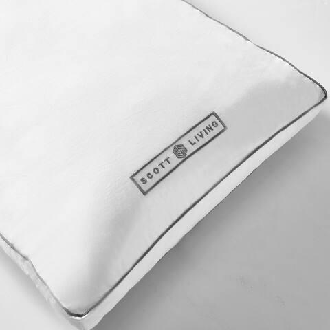 SCOTT LIVING White Down Fiber Gusseted Pillow