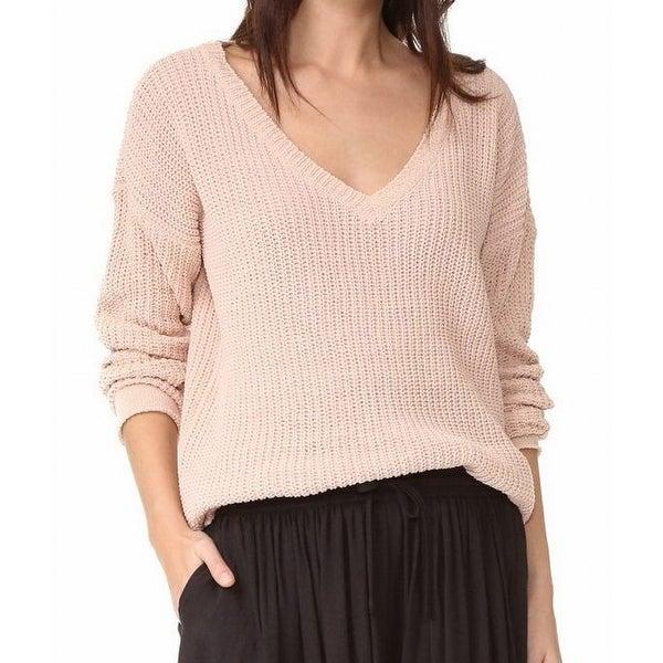 7edcde01b Shop BB Dakota NEW Light Pink Women s Size Large L Boxy V-Neck ...