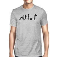 Zombie Evolution Mens Dark Grey T-Shirt Gifts For Zombie Lovers
