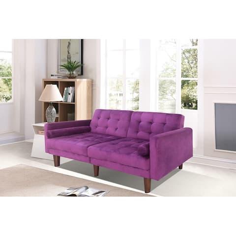 TiramisuBest Modern Velvet Sofa Bed With adjust angles for Living Room