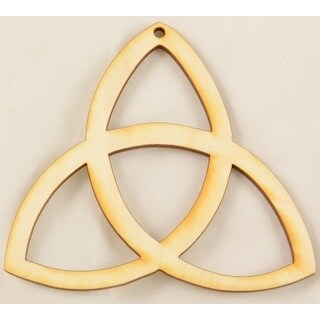"Package Of 10, Triquetra Wood Ornament 4 "" X 4 "" Easily Painted Over Or Sanded Off"