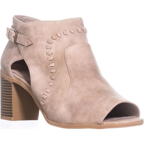 Easy Street Poppet Heeled Sandals, Taupe, 9.5 WW US, Taupe - 9.5 ww us