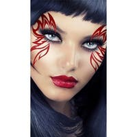 Red Monarch Mask, Red Flame Eye Mask - One Size Fits most