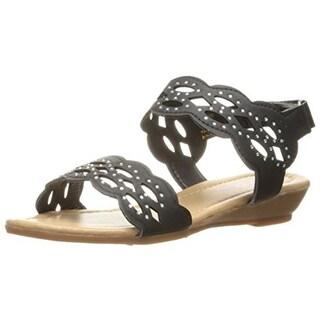 Josmo Girls Laser Cut Flat Sandals - 4
