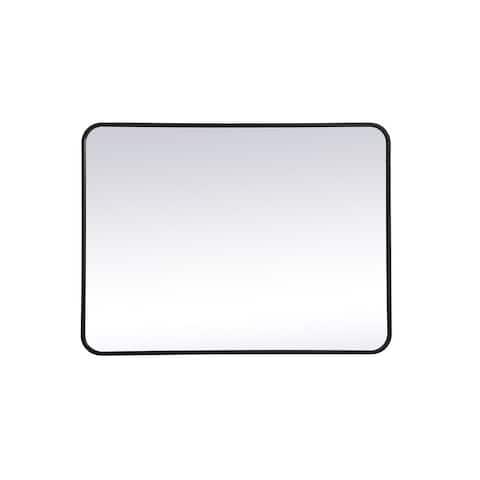 Ezra Soft Corner Metal Rectangular Mirror