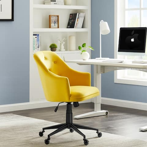 Office Chair with Wheels, Adjustable Height Desk Chair, Makeup Dressing Armchair