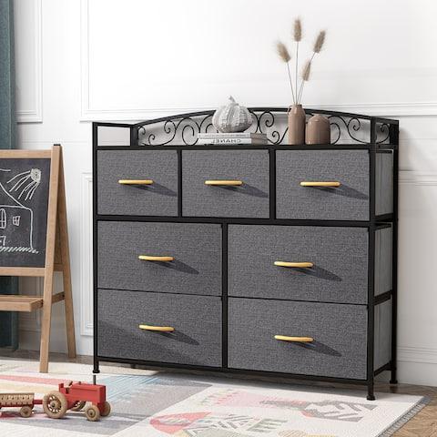 Crestlive Products 7 Drawers Dresser Fabric Storage Chest