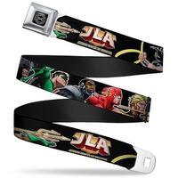 Dc Originals Black Silver Justice League Of America Jla Logo New 52 Seatbelt Belt