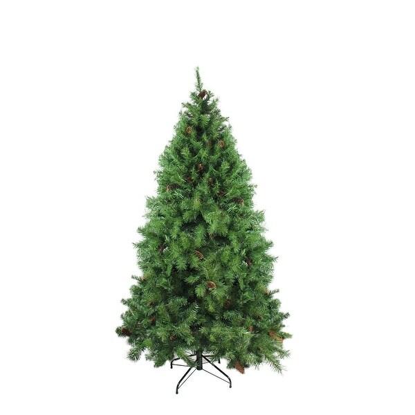 "7.5' x 56"" Dakota Red Pine Full Artificial Christmas Tree with Pine Cones - Unlit - green"