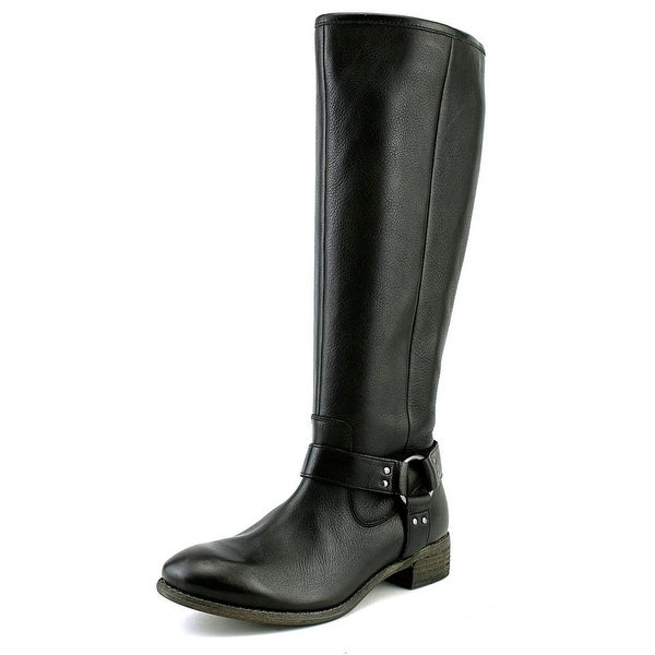 Diba Rue Women Round Toe Leather Black Knee High Boot
