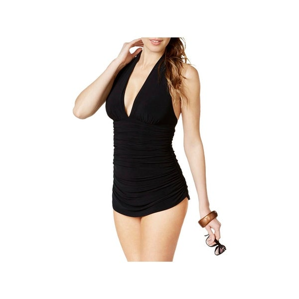 4c322ba125d18 Shop Magic Suit Womens Ruched Halter One-Piece Swimsuit - Free Shipping  Today - Overstock - 22096944