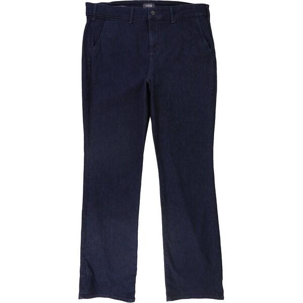 NYDJ Womens Marilyn Straight Trouser Fit Jeans, Blue, 16. Opens flyout.