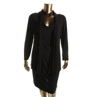 Jessica Howard Womens Plus Matte Jersey 2Fer Cocktail Dress - 22W