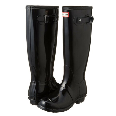 Hunter Original Tall Women's Gloss Rain Boot (Black, Size 10)