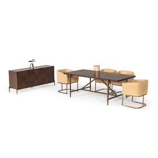 Link to Modrest Shane Modern Acacia & Brass Dining Table Similar Items in Dining Room & Bar Furniture