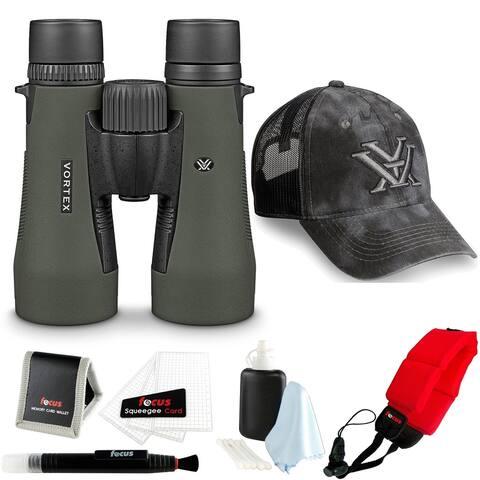 Vortex Diamondback 10x50 Binocular with Strap and Accessory Bundle