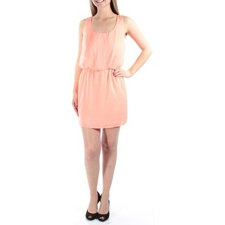 Womens Coral Sleeveless Above The Knee Blouson Dress Size: 5