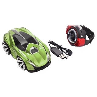 Costway 2.4G Voice Command Car Smart Watch Remote Control RC Racing Toy Car Green