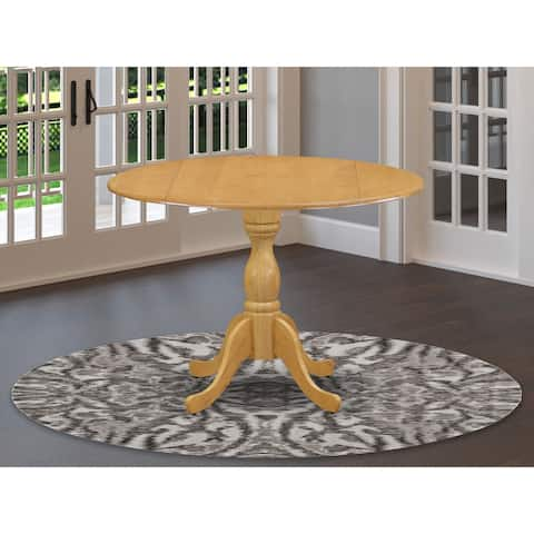East West Furniture Modern Round Small Pedestal Dining Table (Finish Option)