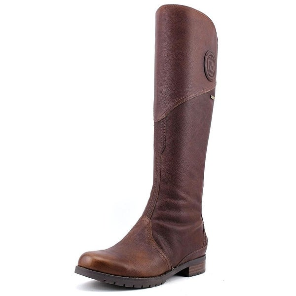 Rockport Tristina Gore Tall Boot Women Round Toe Leather Brown Knee High Boot