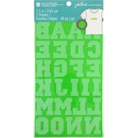 "Wrights Iron-On Letters 1.5""-Lime"