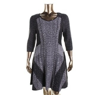Nic + Zoe Womens Knit Heathered Wear to Work Dress