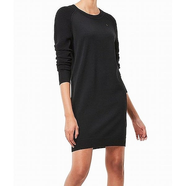 Black Sweater Suzaki G Large Knit L Ribbed Women's Shop Star Raw New H9DI2WEY