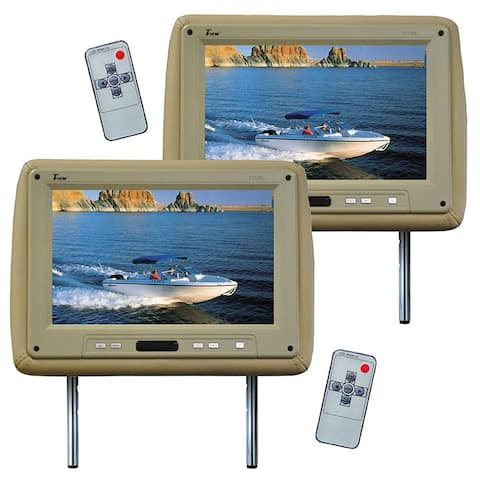 Tview t110pltan monitor 11.2 widescreen tan in headrest;tview;remote