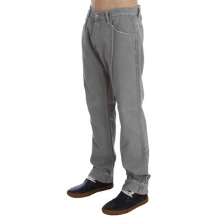 Dolce & Gabbana Gray Cotton Straight Fit Jeans