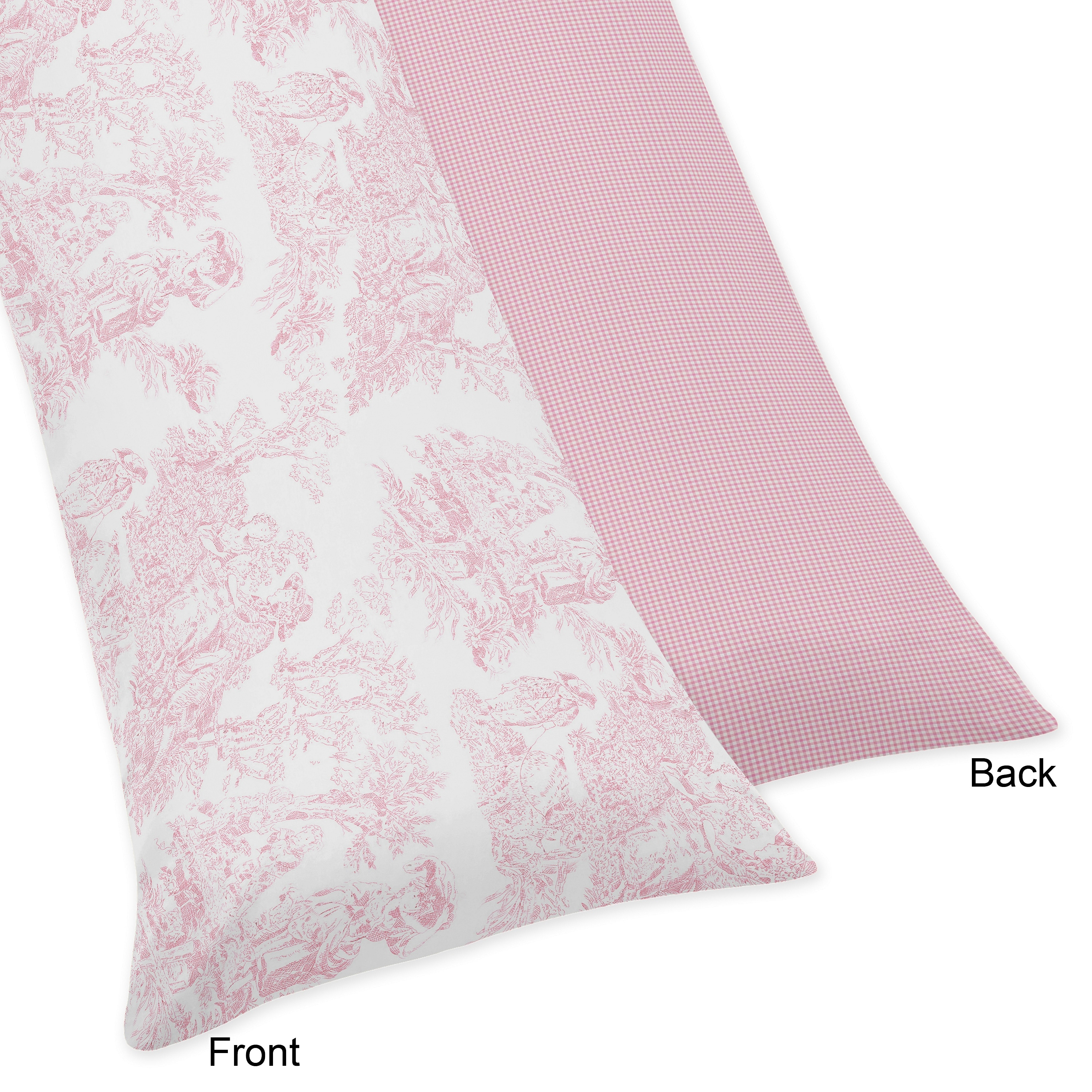 Sweet Jojo Designs Pink French Toile Collection Body Pillow Case Multi Overstock 12754480