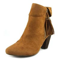 Report Moriah Women Round Toe Suede Brown Ankle Boot