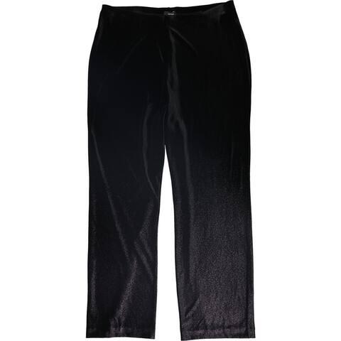 Alfani Womens Velvet Wide Leg Dress Pants