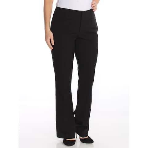 XOXO Womens Black Boot Cut Wear To Work Pants Juniors Size: 13