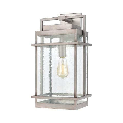 Outdoor One Light Exposed Bulb Wall Sconce - Rectangular Exposed Bulb Porch Light
