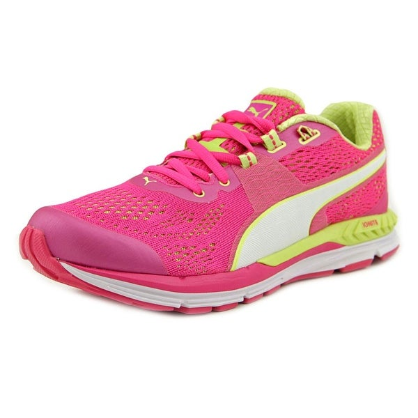 Puma Speed 600 Ignite Wn Women Pink Glo-Sharp/Green-White Sneakers Shoes