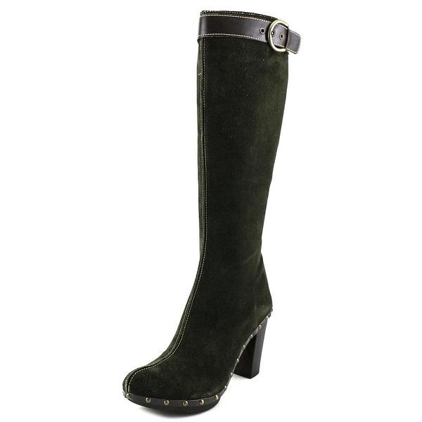 Materia Prima Fantini ZM533 Women Round Toe Suede Green Knee High Boot