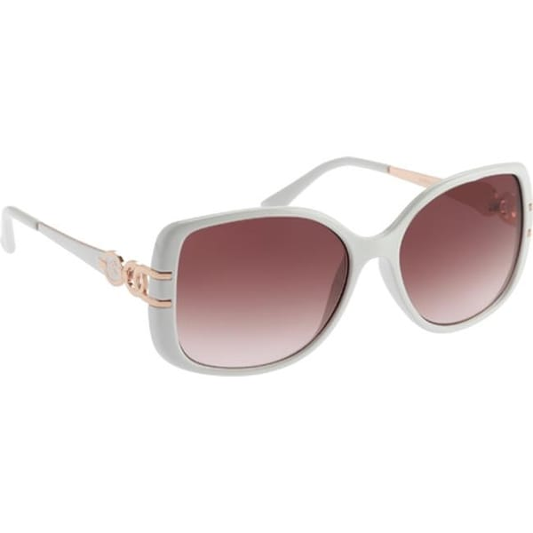 Shop RocaWear Women's R3199 Rectangle Sunglasses White