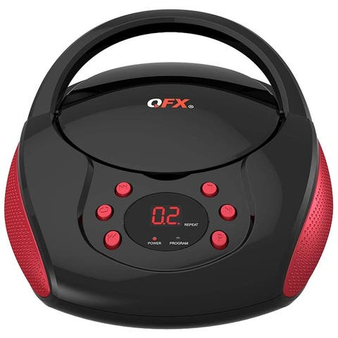 Portable AM FM Radio CD Player Red