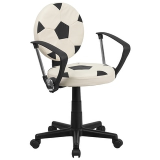 Offex Soccer Task Chair with Arms [OF-BT-6177-SOC-A-GG]