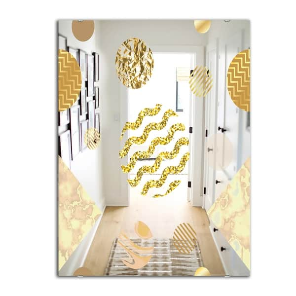 Designart Capital Gold Lively 6 Mid Century Mirror Modern Accent Mirror On Sale Overstock 28003916