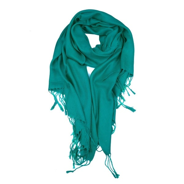 "Beautiful Solid Colors Luxurious Pashmina Scarf Perfect Party Favor - 72"" x 27"""