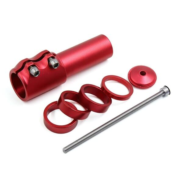 Bicycle Fork Stem Extender Riser Head Up Height Adaptor Adjustable Red