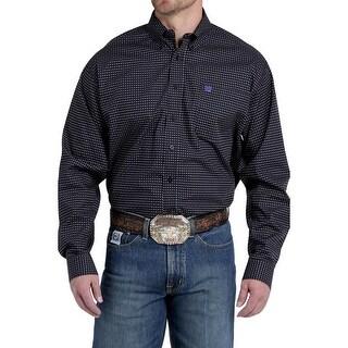 Cinch Western Shirt Mens Long Sleeve Print Pocket Black