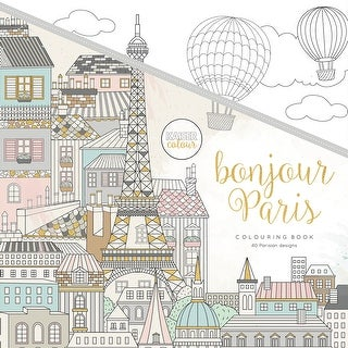 "KaiserColour Perfect Bound Coloring Book 9.75""X9.75""-Bonjour Paris"