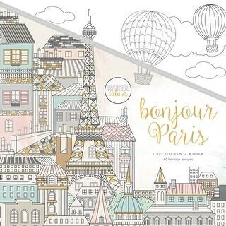 """KaiserColour Perfect Bound Coloring Book 9.75""""X9.75""""-Bonjour Paris"""