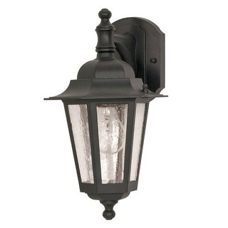 Nuvo Lighting 60/990 Single Light Down Lighting Outdoor Wall Sconce from the Cor - textured black