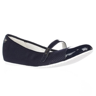 Anne Klein Zee Mary Jane Flats - Navy Multi