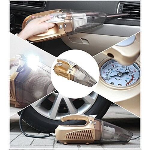 Multifunction Wet or Dry Handheld Duckbill Car Vacuum & Air Compressor