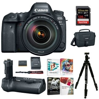 Canon EOS 6D Mark II Camera with EF 24-105mm f/4 L IS II USM Lens Holiday Bundle