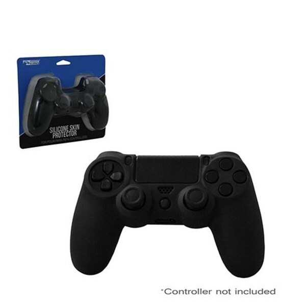 KMD Black Controller Silicone Grip Case for Sony PlayStation 4